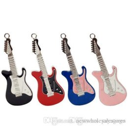 guitar usb flash drive Canada - UK Wholesale Multi colour guita usb Genuine Metal Electric Guitar Usb Flash Drive Creative Memory Stick Gift Pendrive