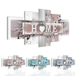 family quotes for wall art 2019 - Abstract HOME Heart Nordic Minimalist Family Quote Wall Art Canvas Poster Print Painting Wall Pictures for Living Room D