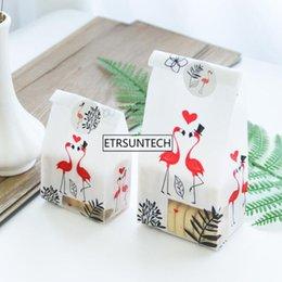 Commercio all'ingrosso di sacchetti di biscotto di stile fresco Flamingo sacchetti di plastica sacchetto di imballaggio di alimenti in plastica sacchetto del pane del biscotto all'ingrosso