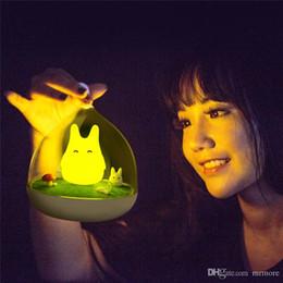 Venta al por mayor de Envío Gratis El Más Nuevo Diseño Lámpara de Noche Totoro Lindo Sensor Táctil Portátil USB Luces LED para el Dormitorio del bebé Sueño Luz de Iluminación