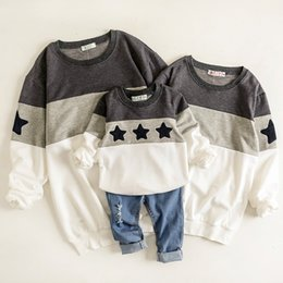match clothing mom baby Australia - Father And Son Clothes Mother Mommy And Daughter Matching Clothes Shirts Mom And Daughter Dress Stars Hoodie Sweatshirt Pajamas Y190523