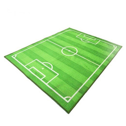 Wholesale Football Soccer Field Carpet Children Crawling Play Mat Soft Pad Baby Kids Blanket Carpet Rug Living Room Bedroom Indoor game carpet