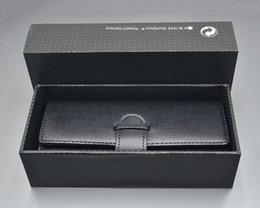 Luxury Pen Cases Australia - New Luxury Monte pen Case Top Grade Black Portable Leather pencil case As Christmas Birthday Valentine gift packaging with Original Box