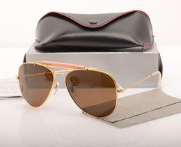 $enCountryForm.capitalKeyWord Australia - 10PCS UV protection Sun glasses shooter glasses Glass Lens pilot Mens Sun glasses Fashion Brand Designer Womans Sunglasses with cases boxs
