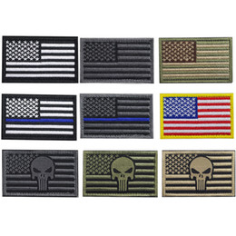 american backpacks Australia - Bundle 100 pieces USA Flag Patch Thin Blue Line Tactical American Military Morale Patches Set for Bags,Backpacks,Uniforms