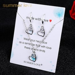 $enCountryForm.capitalKeyWord Australia - 2019 Hot Sale Bohemian Gold Silver Zircon Dangle Earring Necklece Set for Women Owl Dancer Love Pendant Chain Necklace Birthday Gift