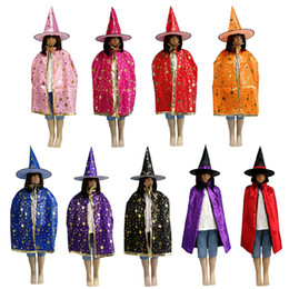 $enCountryForm.capitalKeyWord UK - Halloween Witch Hat Cloak Set Costume Party Glitter Star Decoration Witch Hat Cospaly Costumes Prop Store
