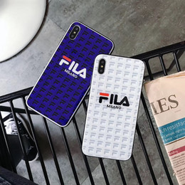 Hot Sales Iphone Case Australia - Hot sale in 2019 Fashion atmosphere Brand hard soft edge Glass phone case for iphone X XS Max XR 8 7 6 6S Plus fashion Sports Cases