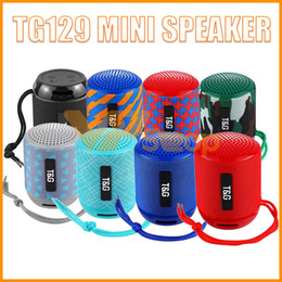 $enCountryForm.capitalKeyWord Australia - TG129 Mini Portable Bluetooth Speakers Wireless Subwoofer Stereo HiFi Sound Box Handsfree FM TF USB AUX Outdoor Speaker Audio Player CHARGE