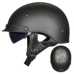$enCountryForm.capitalKeyWord Australia - LS2 OF526 Open Face Motorcycle Helmet Retro Half Helmet Vintage Scooter With Inner Lens And Peak Man Woman Capacete Moto