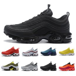 mens gym training shoes 2020 - Cheap High quality Gym red TN plus Men women Running Shoes Triple Black Yellow Outdoor Training Sports Mens Trainers Zap