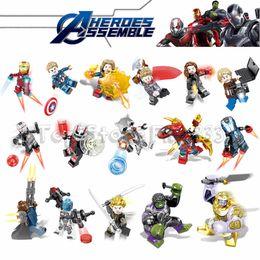 Black Blocks Australia - 16pcs the Avengers Endgame building blocks Sets Marvel Kid Toys Gifts Mini Superhero Captain America Iron Man Black Widow Thor Hulk Figures