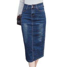 3950bff72 Plus Size Long Denim Skirts Online | Faldas Largas De Mezclilla Más ...
