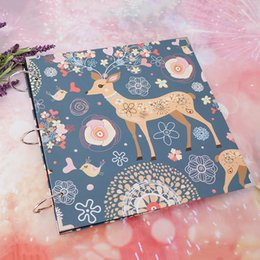 Wholesale DIY Deer Photo Album Scrapbooking Memory Book Christmas Anniversary Birthday Gift