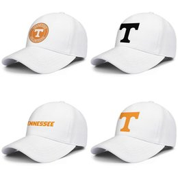 trees cap NZ - Tennessee Volunteers football logo Mesh Mens Women's Adjustable Ball Hats Summer Fishing Cap Round Logo black Coconut tree Marble Print