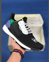Discount chinese running shoes - 2019 Hu Inspiration Pack Human Race Pharrell Williams Running Shoes Mens Womens Sport Sneakers Solar Hu Glide Chinese PW