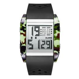 $enCountryForm.capitalKeyWord Australia - Led Electronics Wrist Watch Motion More Function Camouflage Lovers Waterproof Man Square Wrist Watch