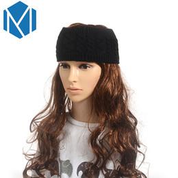 Braided Hair Wraps UK - Wide Knitting Woolen Turban Headbands For Women Winter Warm Ear Crochet Hair Accessories Head Wrap Hair Band Twist Braid Warmer