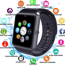 Wholesale best android watches for sale - Group buy Best Cheap Hot GT08 Andriod Smartwatch With SIM Card Slot Android Smart Watch For Samsung And Andriod Smartphones Bracelet Bluetooth Watches