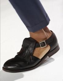 $enCountryForm.capitalKeyWord Australia - Mens Handmade Genuine Leather Gladiator Sandals Summer Fashion Fringe Male Sandals Shoes Runway Man Tassels Cutout Sapatos