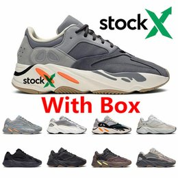 spring shoes discount NZ - 3M Reflective 700 Wave Runner Inertia Tephra Solid Grey Utility Black Vanta Runing Shoes Men Women Static Sneakers 36-46 Discount for Sale