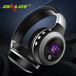 $enCountryForm.capitalKeyWord Australia - ZEALOT B19 Bluetooth Headphones Wireless Stereo Earphone Headphone with Mic Headsets Micro-SD Card Slot FM Radio For Phone & PC