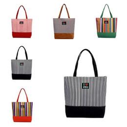 3b1bb1181 Tie dye shops online shopping - Summer Canvas Shopper Bag Striped Rainbow  Prints Beach Bags Tote