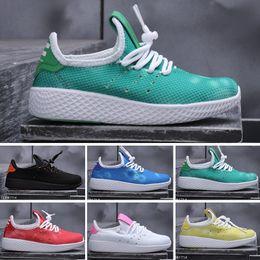 c40d072c0 2019 Human Race NM Runing Shoes kids boys girls Solar Pack Black Yellow HU  HOLI Pharrell Williams Children Sport Sneakers size 28-35