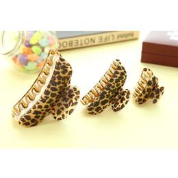women hair clamps 2019 - NEW Women Lady Girls Leopard Hair Clip Claw Hair Accessory Clamp Headpiece G0315 cheap women hair clamps