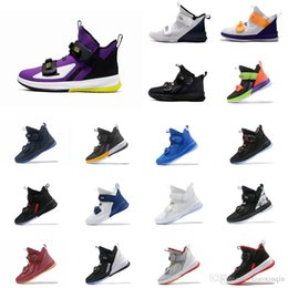 gold soldier NZ - Cheap mens new lebron soldier 13 basketball shoes for sale Black Gold Purple Yelow Laker mvp youth lebrons soldiers sneakers tennis with box