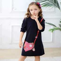 preppy clothing Canada - Kids Designer Clothes for Girls 2019 Autumn Spring Cotton Dress Cute Princess Dress Unicorn Animals Appliqued Kids Clothing 2-7Years