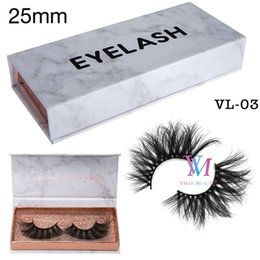 DHL Fast Shipping 5D Mink Lash Private Label Custom Gift Marble Pattern Packing Box Soft Thick 25MM Long Fluffy Mink Eyelash