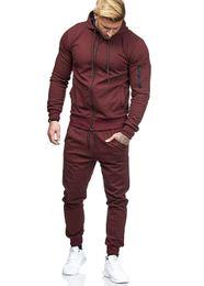 Опт Мужские дизайнерские спортивные костюмы Survetement Однотонный спортивный костюм Спортивные костюмы для мужчин