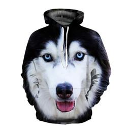 $enCountryForm.capitalKeyWord Australia - EHUANHOOD 3D Hoodies for Men Galaxy Wolf Prints Hooded Sweatshirt Cool Wolf Hoodie Pullovers Thin Style Men's Winter Jackets