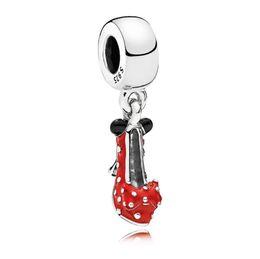 925 shoe pendants online shopping - 2019 NEW Sterling Silver Red Shoes Festive Charms Pendant Collocation Bracelet DIY Factory