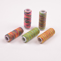 Wholesale 5PCS Sewing Machine Threads Overlocking String Polyester Colorful All Purpose Random color