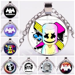 $enCountryForm.capitalKeyWord Australia - 2019 New Arrived DJ Marshmello Necklaces Black Bronze Silver Marshmello Music Fans Souvenir Kids Men Women Cartoon Pendant Jewelry