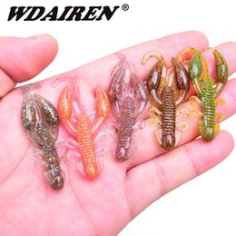 $enCountryForm.capitalKeyWord Australia - 5pcs lot soft baits fishing lures 5cm 2g Jigging wobbler swivel rubber lure fishing worms shrimp salt smell bass Fishing tackle