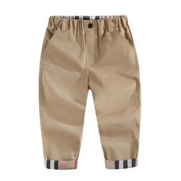 Venta al por mayor de 2019 Tendencia de moda Primavera Niños Niños Pantalones a cuadros de marca Casual Otoño Infantil Ropa para niños Pantalones deportivos para bebés recién nacidos de alta calidad