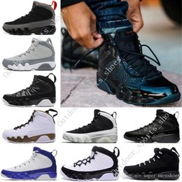 black white men shoes cheap Australia - Cheap NEW 9s Classic 9 OG space Jam Tour blue black white blue blue High Top basketball shoes for men Sport Outdoor designer Shoes US 7-13