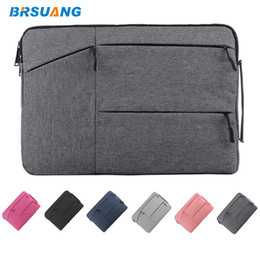 14 inch tablet notebook Australia - 25pcs lot BRSUANG 11 12 13.3 14 15 15.6 Inch Tablet Handbag Laptop Sleeve Case Notebook Pouch For iPad Tablet Notebook