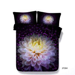 $enCountryForm.capitalKeyWord Australia - Purple Floral Duvet Cover Set Decorative 3 Piece Bedding Set With 2 Pillow Shams Watercolor Roses Gun Bed Cover Comforter Cover Kids Boys