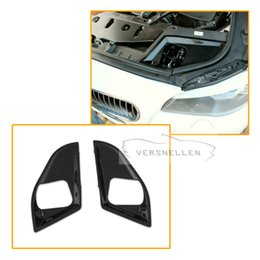 $enCountryForm.capitalKeyWord Australia - Car Styling Carbon Fiber Full Replacement Bonnet Lock Cover For BMW 5 Series F10 528i 535i 550i 2011 2012 2013 Car Hood Lock