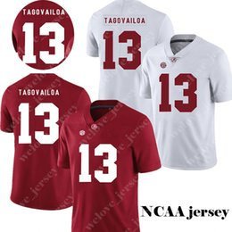 379d96d302d Men's NCAA Alabama Crimson Tide 13 Tua Tagovailoa Jersey College Football  jerseys Hot Sale Red White Stitched Jerseys S-3XL