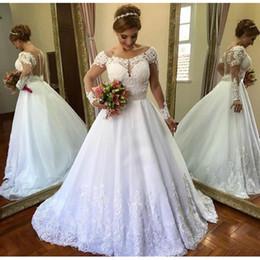 $enCountryForm.capitalKeyWord NZ - Vestido De Noiva 2019 Vintage Clothing Long Sleeve A-Line Wedding Dress See Through Back Lace Wedding Casamento