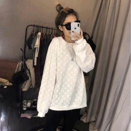 Wholesale pre coat for sale - Group buy Quality version Pre autumn printing D letters hoodie loose and slimming fashion coat top female Asian size