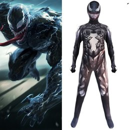 male movie costumes Australia - Halloween Costume Designer Mens Jumpsuit for Halloween Luxury Venom Role-playing Suits for Men Movie Character Venom Mens Clothing S-2XL