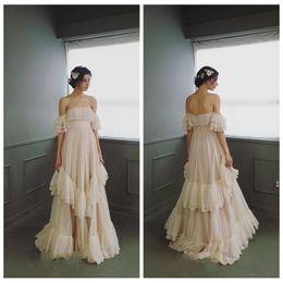 $enCountryForm.capitalKeyWord NZ - Sweet Design Wedding Dresses A-Line Off-Shoulder Sexy Back With Zipper Tiered Skirts Bridal Dresses Graceful Wedding Gowns robe de mariee