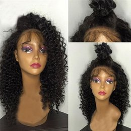 $enCountryForm.capitalKeyWord Australia - Curly Wig Human Hair Kinky Curly Full Wigs with bangs in stock Human Hair Lace Front Wigs Full Lace Wig