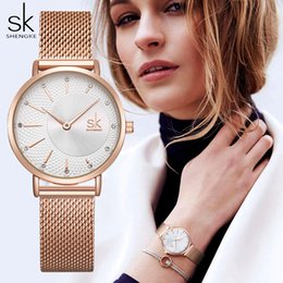 top fashion luxury watches Australia - SHENGKE Women Watches Top Luxury Crystal Watch Women Fashion Rose Gold Women's Watches Clock Reloj Mujer Montre Femme